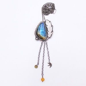 Arrok Labradorite and Sterling Silver Necklace
